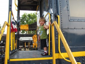 Exploring at the train museum!